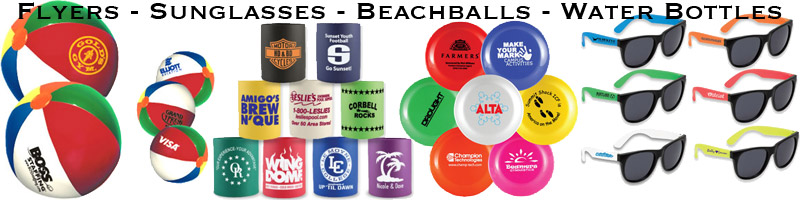 Beachballs, Flyers, Sunglasses & more